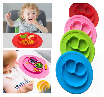Cute Bowl Silicone Snack Mat Baby Kids Suction Table Food Tray Placemat Plate UK