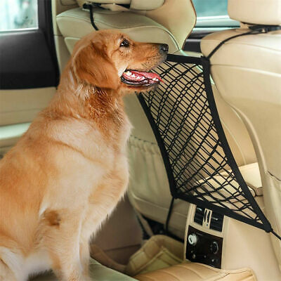 Car Dog Pets Barrier Seat Net Organizer Stretchy Backseat Storage Seat Universal