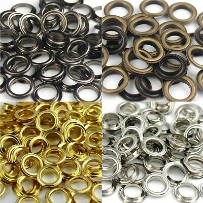 100sets Brass Eyelet with Washer Leather Craft Repair Grommet 8/10/12/14 mm