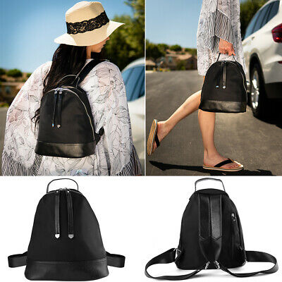 Fashion Women Small Nylon Leather Backpack Travel School Shoulder Bag Purse Tote