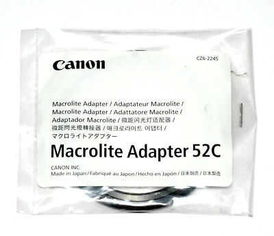 Canon Japan 52mm Macrolite Adapter 52C Speedlite ML-3 MR-14EX MT-24EX (NEU/OVP)