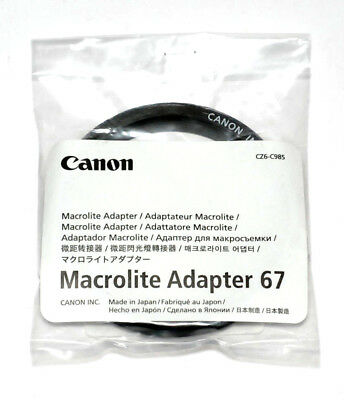 Canon Japan 67mm Macrolite Adapter 67C Speedlite ML-3 MR-14EX MT-24EX (NEU/OVP)