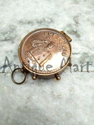 American Pocket Army Nautical Boy Scouts Navigational Brass Compass Traveling
