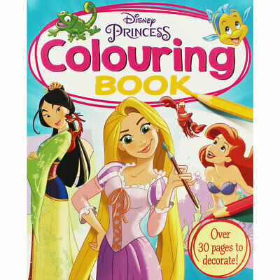 Disney Princess - Colouring Book (Paperback), Children's Books, Brand New