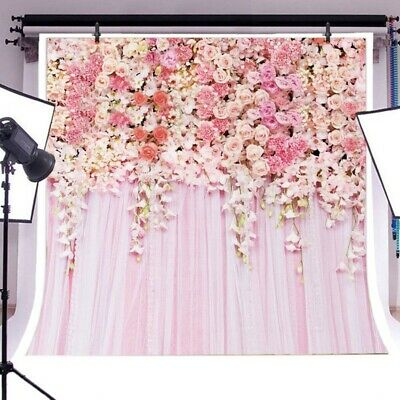 Rose Flower Wall Photography Backdrop Floral Spring Photo Background Pretty Nice
