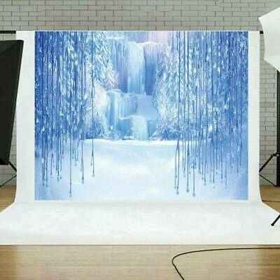 Frozen Waterfall Ice World Backdrop Photography Props Photo Background AU Nice
