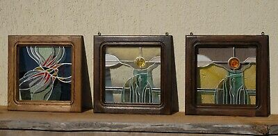 Three-pieced Stained Glass Windows By Polish Artist