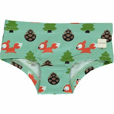 AW19 Maxomorra Busy Squirrel Hipster Briefs Organic Cotton Scandi Knickers