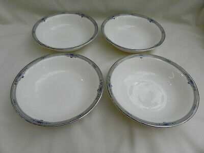 "Wedgwood AMHERST 4 x Cereal Bowls 6"" Excellent."