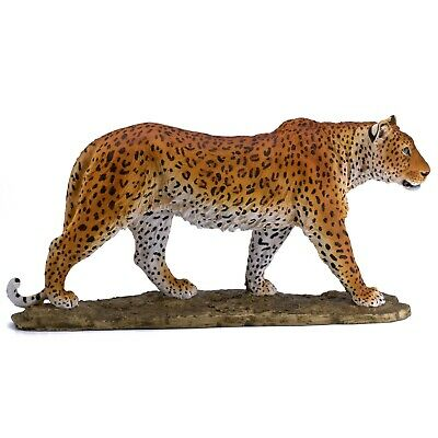 """Large Leopard Figurine Statue 16"""" Long Resin New!"""