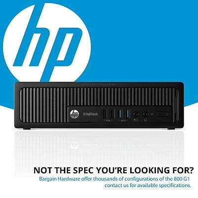 HP EliteDesk 800 G1 USDT Desktop PC - Quad Core i5-4590s 8GB RAM 750GB SSD Win 8