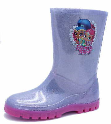 Girls Kids Shimmer & Shine Wellies Wellingtons Rain School Splash Boots Uk 10-12