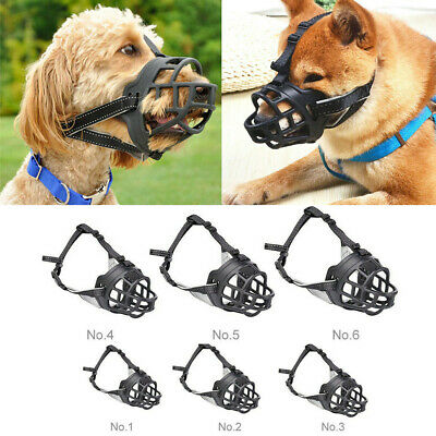 Dog Safety Muzzle For Training Adjustable Various Size Stops Biting Chewing Bark