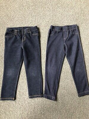 2 Pairs Of Girls Leggings Age 3 Years