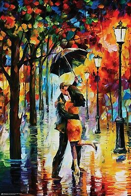 DANCING UNDER THE RAIN By Leonid Afremov ART POSTER, size 24x36