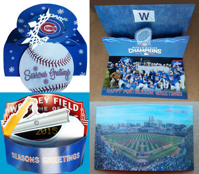 CHICAGO CUBS Baseball - 2014 2015 2016 2017 2018 -- CHRISTMAS CARD / ORNAMENT