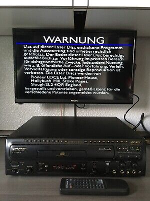 Top Pioneer CLD-160K PAL / NTSC & Karaoke Laserdisc Player & FB