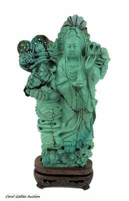Antique Chinese Export Turquoise Figure