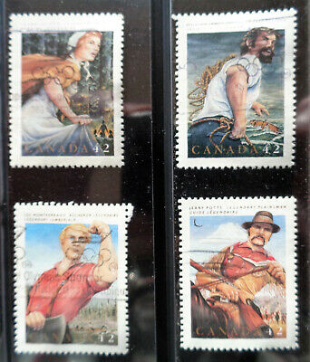 CANADA#1432-35 used 1992 folklore set. We combine shipping