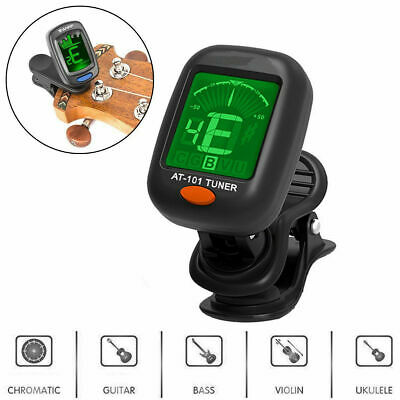 Digital Chromatic LCD Clip-On Electric Tuner for Bass /Guitar /Ukulele /Violin