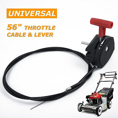 "142cm/56"" Alloy Throttle Cable & Choke Lever Lawnmower Lawn Mower Universal"