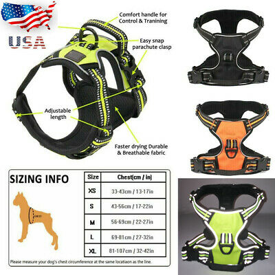 No Pull Dog Pet Premium Harness Adjustable Vest & Leash Outdoor Walking S M L XL