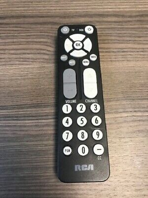 RCA Remote Replacement Model RDL189 Black Infrared Very Good