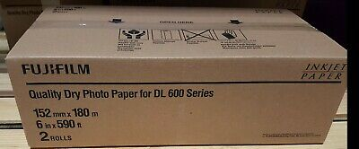Fujifilm Quality Dry Photo Paper for DL600 Series Lustre 6 in x 590 ft 2 Rolls