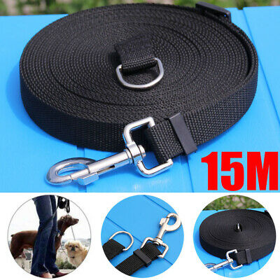 Pet Dog Puppy Training Lead Leash 15M 50ft Long Obedience Rope Foot Feet Cable