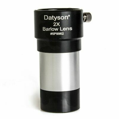 """Datyson 1.25"""" 2x Barlow Lens Fully Multi Coated Metal for Telescope Eyepieces"""
