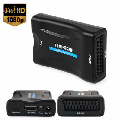 1080P Scart to HDMI & HDMI To Scart Upscaler Audio Video Converter Adapter