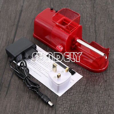 Red DIY Electric Automatic Cigarette Roll Machine Tobacco Injector Make Roller