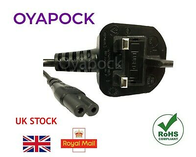 3m Figure of 8 Mains Cable Power UK Lead Plug Cord Fig IEC C7 Laptop PS4 SKY