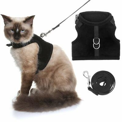 HOMIMP Escape Proof Cat Harness and Leash for Walking, Adjustable Soft Vest