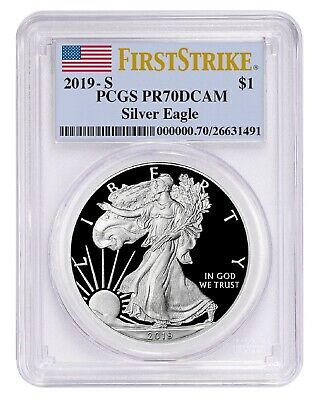 2019 S 1oz Silver Eagle Proof PCGS PR70 DCAM - First Strike Label - PRESALE