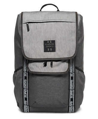 New Mens Superdry Super Semester Backpack Grey Ripstop Marl