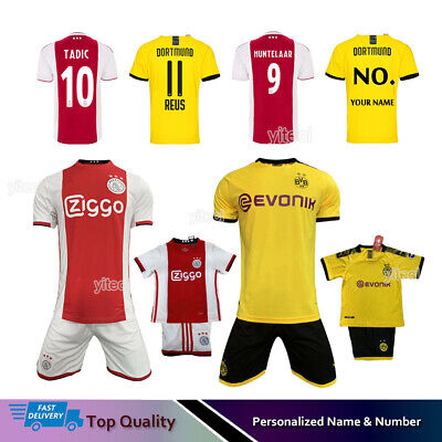 19/20 Football Full Kit Kids Youth Jersey Strips Soccer Team Suit Sports Outfit