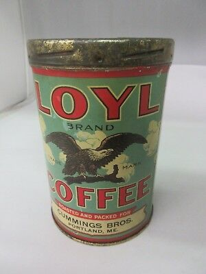 Vintage Loyl Coffee With Original Lid  Advertising Collectible 17-Z