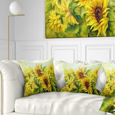 Designart 'Bright Yellow Sunny Sunflowers' Floral Painting