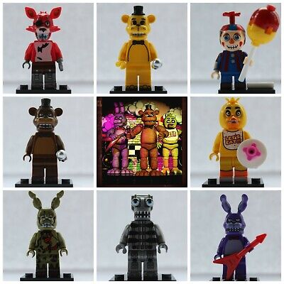 FNAF Five Nights At Freddies Bonnie Foxy Chica Endo Use With Lego Mini Figures