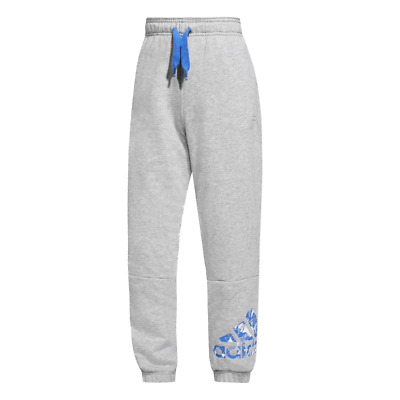 Boys Adidas Performance Fleece Bottoms Logo Cuffed Sports Training Track Pants