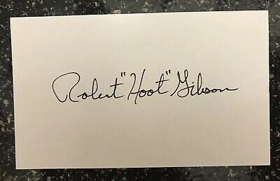 Robert Hoot Gibson signed autographed index card NASA Astronaut