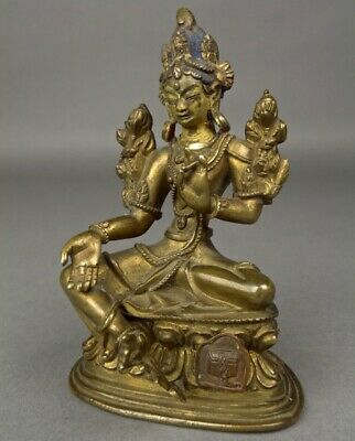 Beautiful Very Fine Old CHINESE TIBET BRONZE BUDDHA TARA FIGURE Statue 19