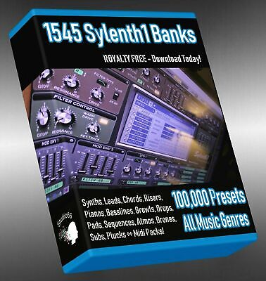 100,000 Sylenth1 Presets Soundbanks LOGIC ABLETON FL STUDIO CUBASE REASON SONAR
