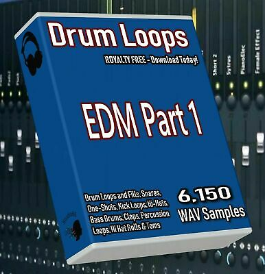 EDM Drum Loops Part 1 EDM Beats! FL Studio Ableton Cubase Logic Pro Tools WAV