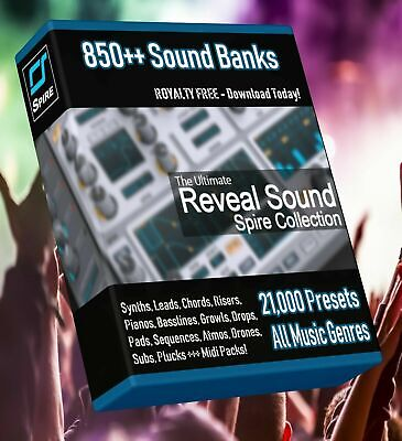 Huge Pack 850 Spire Synth SoundBanks! ABLETON FL STUDIO CUBASE REASON LOGIC PRO