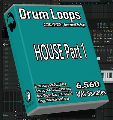 House Drum Loops Part 1 FL Studio Ableton Cubase Logic Pro Tools WAV Loops Beats