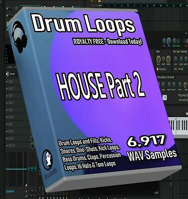 House Drum Loops Part 2 FL Studio Ableton Cubase Logic Pro Tools WAV Loops Beats