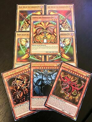 Yugioh Tcg: Exodia + Egyptian God Cards: Obelisk Slifer Ra - 8-Card Set - Ldk2