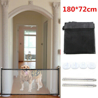 Pet Dog Cat Gate Fence Mesh Door Barrier Safe Net Guard Enclosure 180*72cm